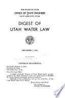 Digest Of Utah Water Law