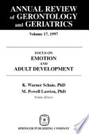 Annual Review of Gerontology and Geriatrics  Volume 17  1997