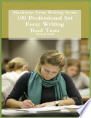 Maximize Your Writing Score   100 Professional Sat Essay Writing   Real Tests
