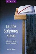 Let the Scriptures Speak