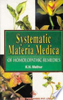 Systematic Materia Medica of Homoeopathic Remedies