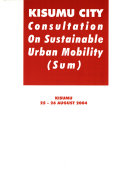 Kisumu City Consultation On Sustainable Urban Mobility Sum  book