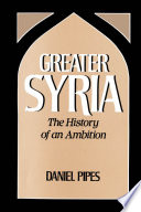 Ebook Greater Syria Epub Daniel Pipes Apps Read Mobile