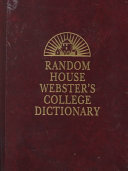 Random House Webster S College Dictionary