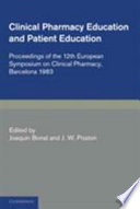 Clinical Pharmacy and Patient Education