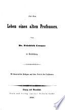 Friedrich Creuzer's Deutsche Schriften, neue und verbesserte