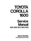 Toyota Corolla 1600 service manual
