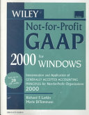 The Not for Profit Accounting Field Guide 1999 2000