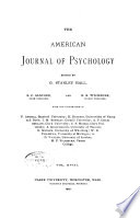 The American Journal of Psychology Book PDF