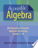 Accessible Algebra