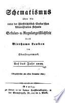 Schematismus über die unter fürstbischöflich-Seckau'scher Administration stehende Säcular- u. Regulargeistlichkeit des Bisthums Leoben in Obersteyermark
