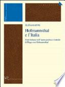 Hofmannsthal E L italia