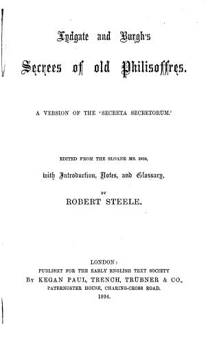Early English Text Society: Extra series