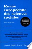 Processus d   valuation des sciences sociales   acteurs et valeurs   XIIIe s  minaire interdisciplinaire du groupe d   tude  Raison et rationalit  s    actes