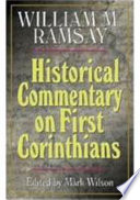 Historical Commentary On First Corinthians book