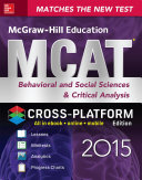 McGraw Hill Education MCAT Behavioral and Social Sciences   Critical Analysis 2015  Cross Platform Edition