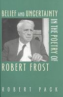 download ebook belief and uncertainty in the poetry of robert frost pdf epub