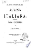 Gramática italiana y método para aprenderla