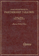 Cases and materials on partnership taxation
