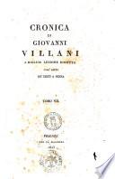 Cronica di Giovanni Villani a miglior lezione ridotta coll aiuto de  testi a penna  Tomo 1    8