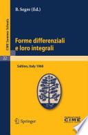 illustration Forme differenziali e loro integrali