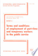 Terms And Conditions Of Employment Of Part Time And Temporary Workers In The Public Service