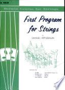 First Program for Strings