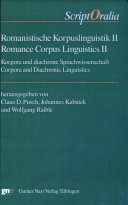 Romance corpus linguistics II