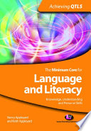 The Minimum Core for Language and Literacy  Knowledge  Understanding and Personal Skills