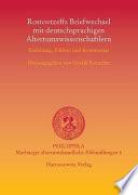 Rostovtzeffs Briefwechsel mit deutschsprachigen Altertumswissenschaftlern