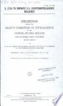S 2726 To Improve U S Counterintelligence Measures