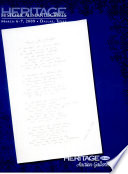 Book Heritage Auctions Manuscripts Auction Catalog  6019