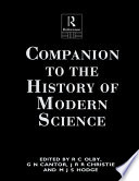 Companion to the History of Modern Science