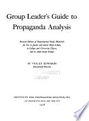 Group Leader's Guide to Propaganda Analysis