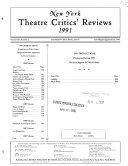 Ebook New York Theatre Critics' Reviews Epub N.A Apps Read Mobile