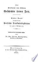 Geschichte seiner Zeit (in 8 Büchern). Übers. und mit Erläuterungen vers. von Peter Friedrich Kanngießer