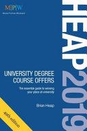 HEAP 2019  University Degree Course Offers