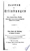 Handbuch der Erfindungen von Gabr. Christ. Benj. Busch