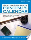 The Elementary School Principal S Calendar