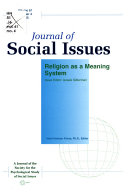 Journal of Social Issues  Religion as a Meaning System