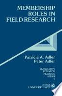 Membership Roles in Field Research