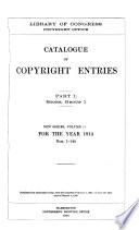 Catalogue of Copyright Entries Book PDF