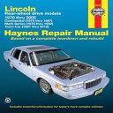 Lincoln Rear Wheel Drive Models
