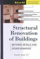 Structural Renovation of Buildings  Methods  Details    Design Examples