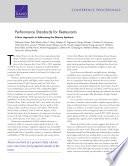 Performance Standards for Restaurants