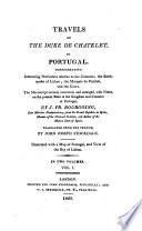 Travels of the Duke de Chatelet, in Portugal