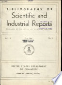 Bibliography Of Scientific And Industrial Reports