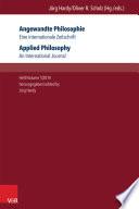Angewandte Philosophie Eine Internationale Zeitschrift Applied Philosophy An International Journal
