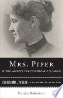 Mrs  Piper and the Society for Psychical Research