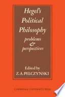 Hegel s Political Philosophy  problems and Perspectives